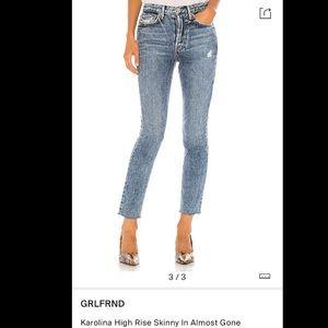 GRLFRND   Karolina High Rise Skinny - Almo…